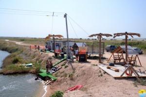 Party wake camp, Азовское море, коса Долгая