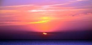 Закат на косе Долгой, Азовское море